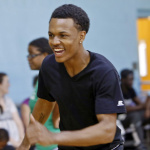 Andre Canady, 16, of Greenbelt, skates with friends at the monthly Friday Fun Day on June 17 at The Springhill Lake Recreation Center. The open skate with free skate rental occurs every third Friday in spring and summer months at the center.  Photo by Jill Connor