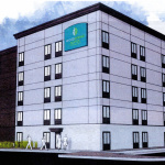 Concept drawing of proposed extended stay hotel - BW Parkway side - Courtesy of Woodspring