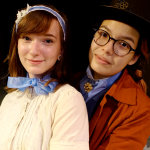 Juliet is played by Vanessa Daelemans, and Romeo by Colette Cheng.