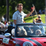 Citizen of the Year Paul Downs rides in the Labor Day Parade on September 4, 2017. Photo by Sharon Natoli